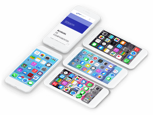 Diversos modelos de iPhone para locação na Uniir